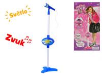 Mikrofon se stojánkem 110 cm na baterie se světlem a zvukem - mix variant či barev