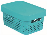 box úložný INFINITY děrovaný 26,8x18,6x12,4cm s víkem, plastový, MO