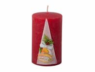 Svíčka ZVONEK VÁLEC vánoční vyřezávaná d6x10cm