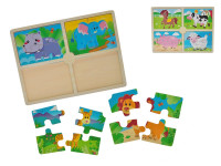 Puzzle dřevěná zvířátka 30x22,5x8 cm - mix variant či barev