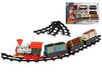Vláček s vagóny 47 cm + dráha 62 cm na baterie