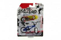 Kolo + skateboard prstový šroubovací plast 10cm asst - mix variant či barev