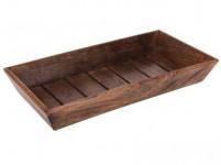 miska obdél. 39x20x5,5cm dřevo