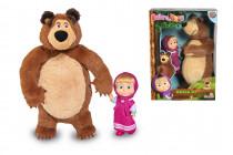 Máša a medvěd Set Míša plyšový 25cm a panenka Máša 12cm