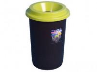 koš na tříděný odpad 50l kulatý plastový - mix barev