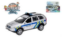 Policejní auto Volvo XC-90 kov 14 cm zpětný chod na baterie se světlem/zvukem