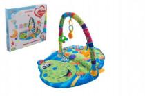 Hrací podložka/Hrazda pro děti a chrastítky plast/plyš 0m+