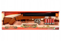 Pistole/Brokovnice kovbojská s náboji plast 47cm na baterie se zvukem