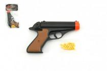 Pistole se zásobníkem na kuličky 15cm + kuličky plast