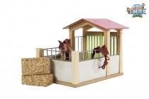 Dřevěný box na koně 1:24