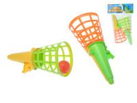 Hra Catch ball 2ks s míčkem plast 19cm