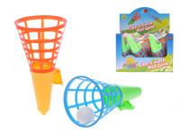 Catch ball hra plast 21cm 2ks+míček