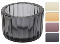 svícen sklo pr.5,5x3,7cm - mix barev