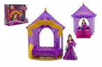 Zámek pro princeznu s doplňky plast - mix barev