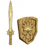 Meč a štít Fantasy lebka