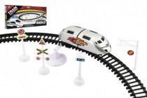 Vlak plast s kolejemi 370cm s doplňky na baterie