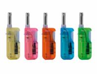 Zapalovač plynový plnitelný mix barev 12cm