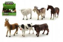 Zvířátka domácí farma plast 12cm - mix variant či barev