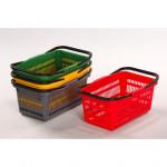 košík nákupní, 2 držadla 44x28x20cm plastový, OR, nosnost 10kg
