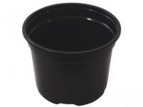Květník PREMIUM VCD lehčený plastový černý 12cm