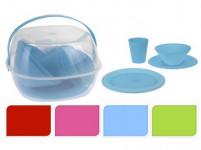 nádobí PIKNIK sada 30díl. PH - mix barev