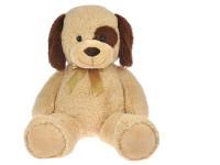Pes plyšový 90 cm s mašlí