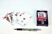 Poker společenská hra karty v papírové krabičce 6x9cm