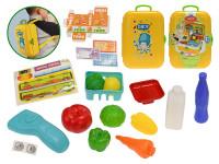 Supermarket/batoh 2 v1 21 ks s doplňky v kufříku