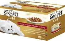 Gourmet Gold cat konz.-kousky ve šťávě Multipack 4 x 85 g