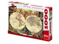 Puzzle 1000 Historická mapa
