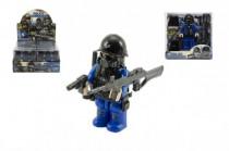 """Figurka voják """"policejní komando""""s doplňky plast 9cm mix druhů - mix variant či barev"""