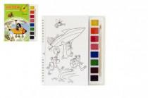 Omalovánky Krtek 2 s vodovými barvami a štětcem