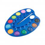 Vodové barvy - malířská paleta 12 barev, průměr 3 cm