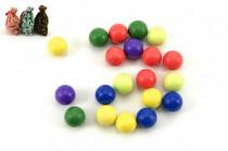 Kuličky cvrnkací nerozbitné 20ks 1,5 cm v látkovém pytlíčku - mix barev