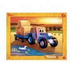 Puzzle 40 dílků Zetor: žně deskové puzzle