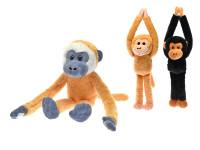 Opice plyšová 35 cm dlouhé ruce a nohy - mix barev