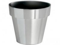 Obal na květník CUBE CHROME SILVER plast stříbrný d11x10cm