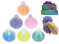 Míček síťkový strečový s kuličkami 7 cm - mix barev