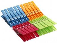 kolíčky na prádlo plastové, 20+2 zdarma - mix barev