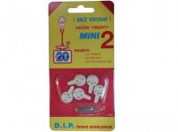 háček tw. mini II plastový, BÍ (5ks) 1104 (7015)