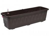 Truhlík samozavlažovací FANTAZIE SMART plast hnědý 60cm