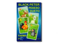 Černý Petr/Pexeso/Dueto farma 3 v1 7x10,5x1,5 cm 31 ks krabičce