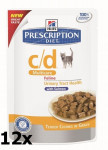 Hill's Prescription Diet Feline C/D kaps. Salmon 12 x 85 g - VÝPRODEJ