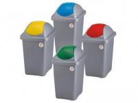 koš odpadkový výklopný MULTIPAT 60l čtvercový ŠE/ŽL plastové víko