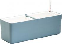 Plastia truhlík samozavlažovací Berberis - šedomodrá + bílá 80 cm