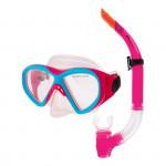 Spokey KRAKEN II Sada brýle + šnorchl růžová