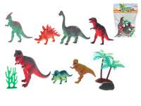 Dinosauři 7 ks 10-17 cm s doplňky