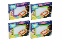 Magnetická tabulka kreslící plast 33x24cm s doplňky - mix barev