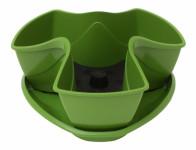 Květník COUBI s podmiskou plastový zelený d30cm