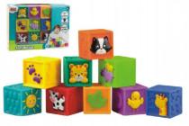 Kostky 9ks měkké gumové v krabici 6m+